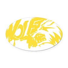 WolfAA048 Oval Car Magnet