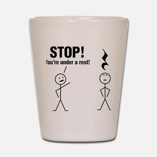 Stop! Shot Glass