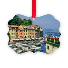 Boats in the harbor at the small  Ornament