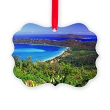 Magens Bay Beach in St. Thomas, U Ornament