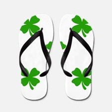 st patricks clover emoji Flip Flops