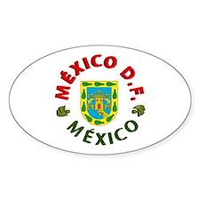 México D.F. Oval Decal