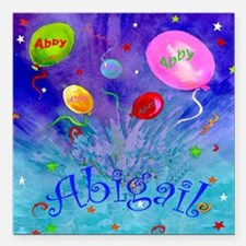 "Abby Square Car Magnet 3"" x 3"""