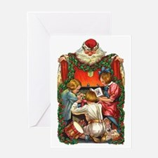 vintage christmas-santa claus Greeting Card