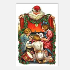 vintage christmas-santa c Postcards (Package of 8)