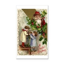 Vintage Christmas Santa Claus Rectangle Car Magnet