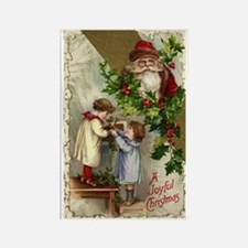 Vintage Christmas Santa Claus Rectangle Magnet