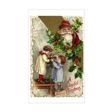 Vintage Christmas Santa Claus Decal