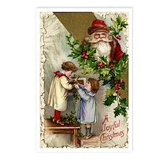 Vintage Christmas Santa C Postcards (Package of 8)