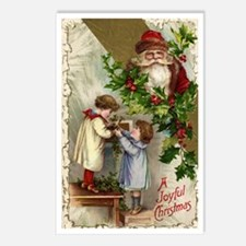 Vintage Christmas Santa C Postcards (Package of 8)