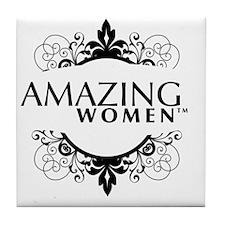 Large apparel logo Tile Coaster