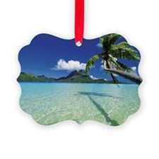 Faanui Bay, as seen from beach on Ornament
