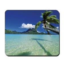 Faanui Bay, as seen from beach on Bora B Mousepad