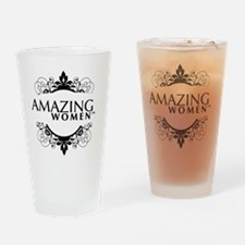 Small apparel logo Drinking Glass
