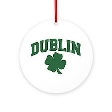 Dublin Shamrock Ornament (Round)