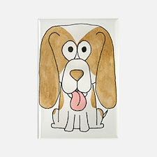 Beagle Puppy Dog. Rectangle Magnet