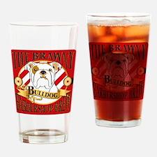 The Brawny Bulldog Barbershop Brew_ Drinking Glass