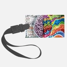 Left Brain Right Brain Cartoon P Luggage Tag