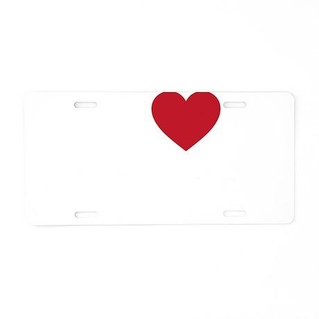 I Love Syria Aluminum License Plate