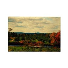 Mountains in the fall Rectangle Magnet