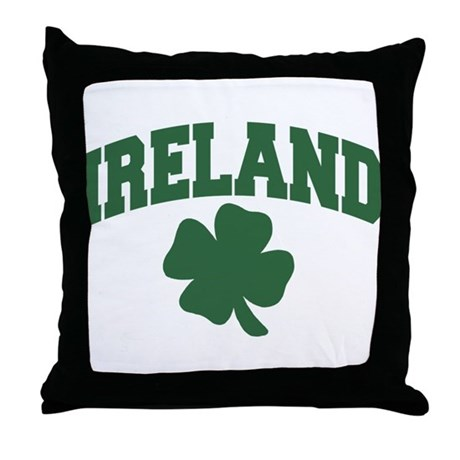 Ireland Shamrock Throw Pillow