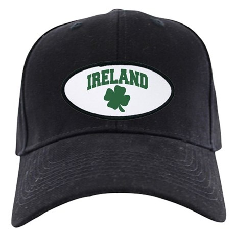 Ireland Shamrock Black Cap