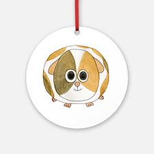 Tortoiseshell Guinea Pig. Round Ornament