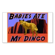 babies ate my dingo Rectangle Decal