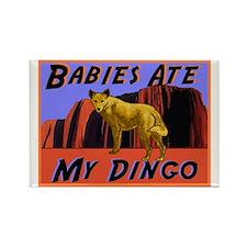 babies ate my dingo Rectangle Magnet