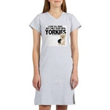 I Sleep with Yorkies Women's Nightshirt
