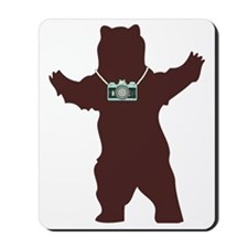 Grizzly Bear With Camera Mousepad