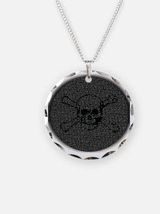 Skull and Bones Disc golf Ov Necklace