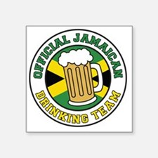 """Official Jamaican Drinking  Square Sticker 3"""" x 3"""""""