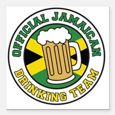 "Official Jamaican Drinki Square Car Magnet 3"" x 3"""