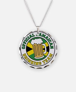 Official Jamaican Drinking T Necklace