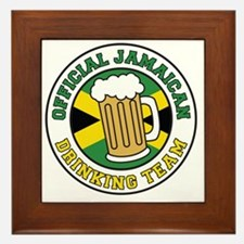 Official Jamaican Drinking Team Framed Tile