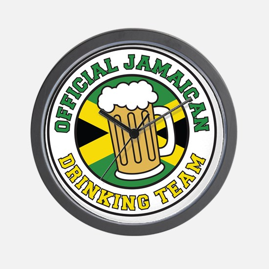 Official Jamaican Drinking Team Wall Clock