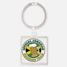 Official Jamaican Drinking Team Square Keychain