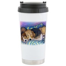 Beagle puppies asleep on the so Travel Mug