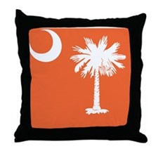 South Carolina Palm... Throw Pillow