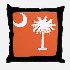 South Carolina Palm... Throw Pillow