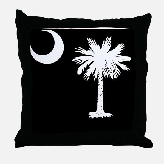 South Carolina Palmetto State Flag Throw Pillow