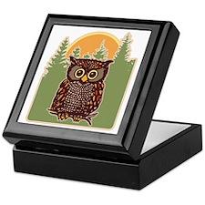 Hoot Owl Forest Keepsake Box