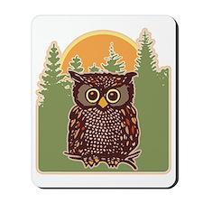 Hoot Owl Forest Mousepad