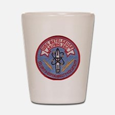 uss betelgeuse patch transparent Shot Glass