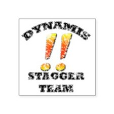 """Dynamis Stagger Team Aged Square Sticker 3"""" x 3"""""""
