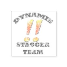 """Dynamis Stagger Team Faded Square Sticker 3"""" x 3"""""""