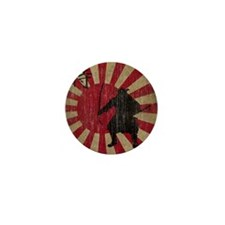 Vintage Samurai Mini Button