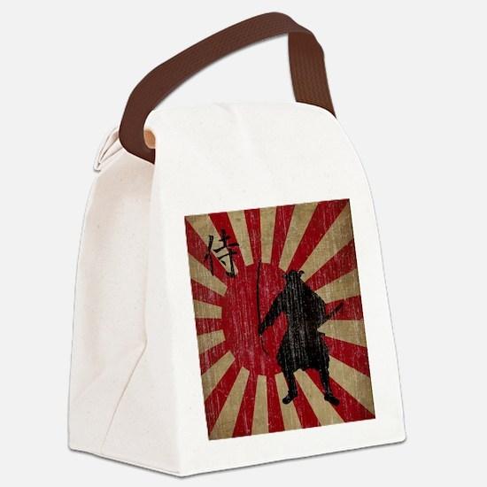 Vintage Samurai Canvas Lunch Bag
