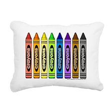 crayons Rectangular Canvas Pillow